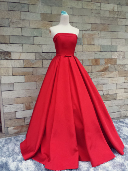5fcd60f699 Strapless Red Long Prom Dresses on Luulla
